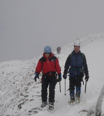 Norrie & Wayne. Happy descent