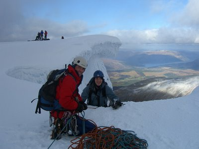 Topping out on Gardyloo Gully