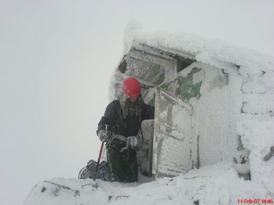 Linda on the summit 11th February