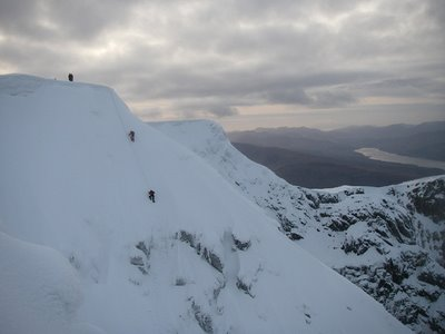 Easy summit finish on Point Five Gully
